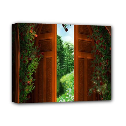 Beautiful World Entry Door Fantasy Deluxe Canvas 14  X 11  by Amaryn4rt