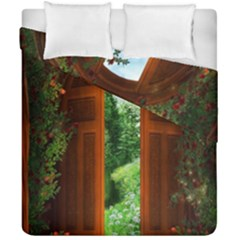 Beautiful World Entry Door Fantasy Duvet Cover Double Side (california King Size)