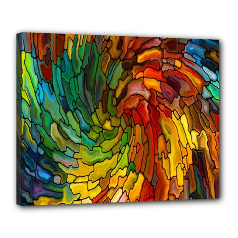 Stained Glass Patterns Colorful Canvas 20  X 16