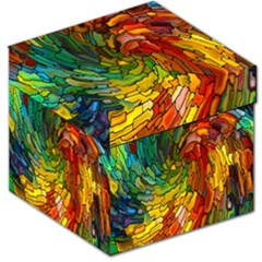 Stained Glass Patterns Colorful Storage Stool 12