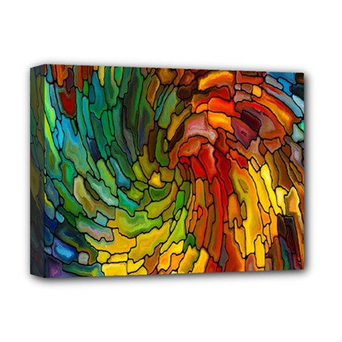 Stained Glass Patterns Colorful Deluxe Canvas 16  X 12