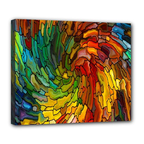 Stained Glass Patterns Colorful Deluxe Canvas 24  X 20