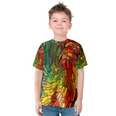 Stained Glass Patterns Colorful Kids  Cotton Tee