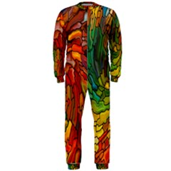 Stained Glass Patterns Colorful Onepiece Jumpsuit (men)