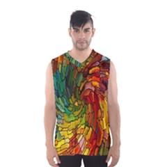 Stained Glass Patterns Colorful Men s Basketball Tank Top