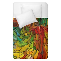 Stained Glass Patterns Colorful Duvet Cover Double Side (single Size)