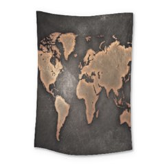 Grunge Map Of Earth Small Tapestry