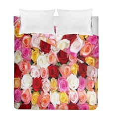 Rose Color Beautiful Flowers Duvet Cover Double Side (full/ Double Size)