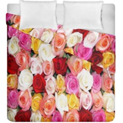 Rose Color Beautiful Flowers Duvet Cover Double Side (king Size)