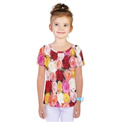 Rose Color Beautiful Flowers Kids  One Piece Tee