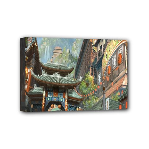Japanese Art Painting Fantasy Mini Canvas 6  X 4  by Amaryn4rt
