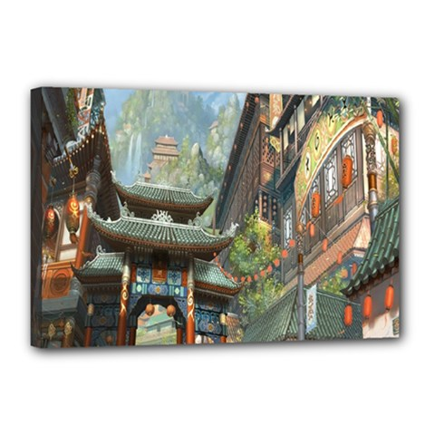 Japanese Art Painting Fantasy Canvas 18  X 12  by Amaryn4rt