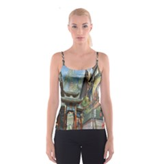Japanese Art Painting Fantasy Spaghetti Strap Top