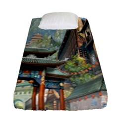 Japanese Art Painting Fantasy Fitted Sheet (single Size)