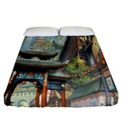 Japanese Art Painting Fantasy Fitted Sheet (queen Size)