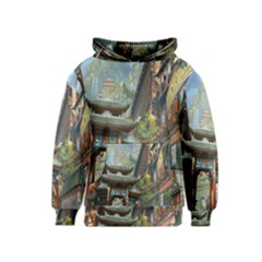 Japanese Art Painting Fantasy Kids  Pullover Hoodie