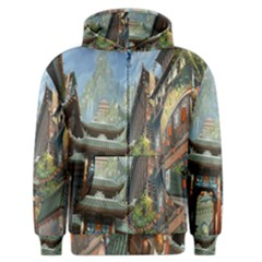 Japanese Art Painting Fantasy Men s Zipper Hoodie
