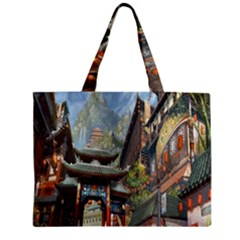 Japanese Art Painting Fantasy Zipper Mini Tote Bag by Amaryn4rt