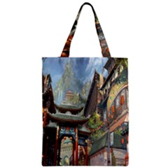Japanese Art Painting Fantasy Zipper Classic Tote Bag
