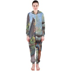 Japanese Art Painting Fantasy Hooded Jumpsuit (ladies)