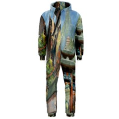 Japanese Art Painting Fantasy Hooded Jumpsuit (men)