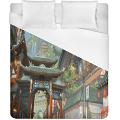 Japanese Art Painting Fantasy Duvet Cover (california King Size) by Amaryn4rt