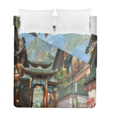 Japanese Art Painting Fantasy Duvet Cover Double Side (full/ Double Size) by Amaryn4rt