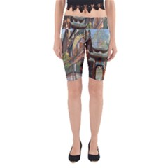 Japanese Art Painting Fantasy Yoga Cropped Leggings by Amaryn4rt