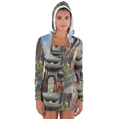 Japanese Art Painting Fantasy Women s Long Sleeve Hooded T Shirt