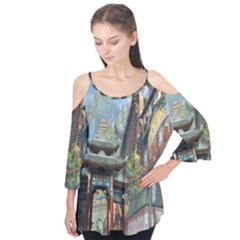 Japanese Art Painting Fantasy Flutter Tees