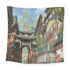 Japanese Art Painting Fantasy Square Tapestry (large)