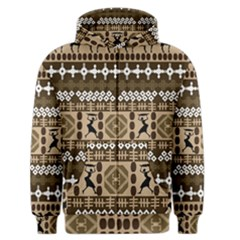 African Vector Patterns Men s Zipper Hoodie
