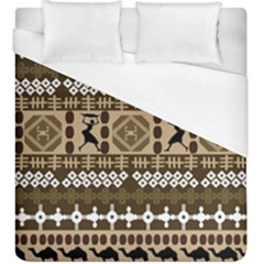 African Vector Patterns Duvet Cover (king Size)