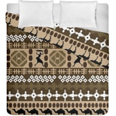 African Vector Patterns Duvet Cover Double Side (king Size)