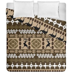 African Vector Patterns Duvet Cover Double Side (california King Size)