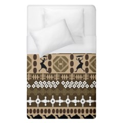 African Vector Patterns Duvet Cover (single Size) by Amaryn4rt
