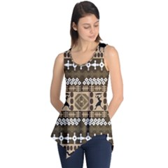 African Vector Patterns Sleeveless Tunic