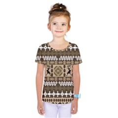 African Vector Patterns Kids  One Piece Tee