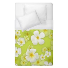 Frangipani Flower Floral White Green Duvet Cover (single Size) by Alisyart