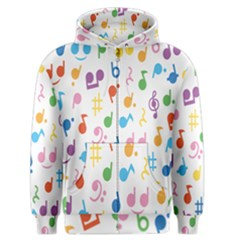 Notes Tone Music Purple Orange Yellow Pink Blue Men s Zipper Hoodie