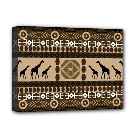 African Vector Patterns  Deluxe Canvas 16  X 12