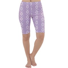 Flower Star Purple Cropped Leggings  by Alisyart