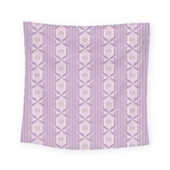 Flower Star Purple Square Tapestry (small) by Alisyart