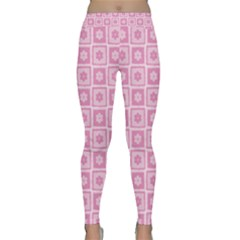 Plaid Floral Flower Pink Classic Yoga Leggings