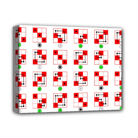 Permutations Dice Plaid Red Green Deluxe Canvas 14  X 11  by Alisyart