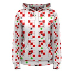 Permutations Dice Plaid Red Green Women s Pullover Hoodie