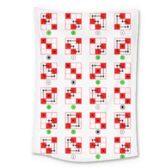 Permutations Dice Plaid Red Green Large Tapestry