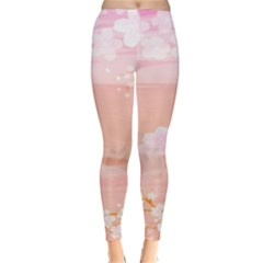 Season Flower Floral Pink Classic Winter Leggings