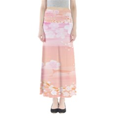 Season Flower Floral Pink Maxi Skirts