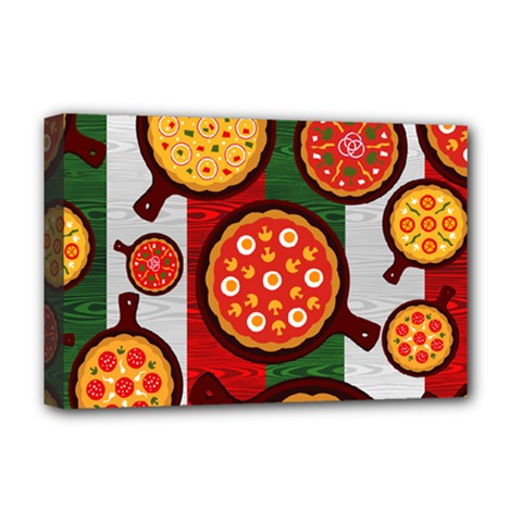 Pizza Italia Beef Flag Deluxe Canvas 18  X 12